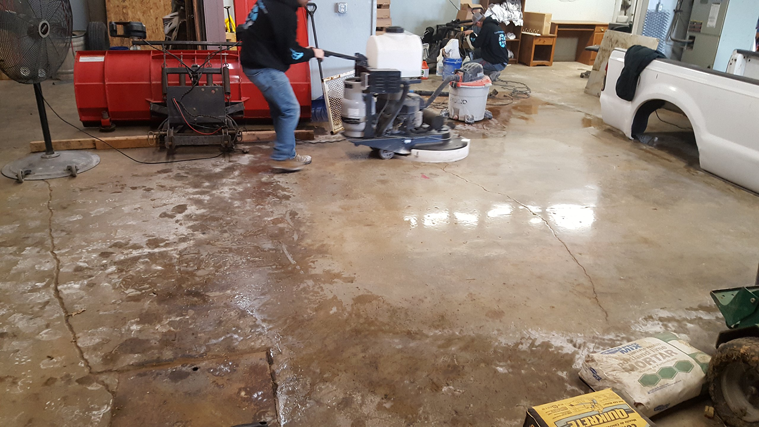 Concrete DNA Resin Satellite Pads | Double Sided Diamond Floor Polishing Pads | 16'', 50 Grit by Concrete Floor Supply (Image #4)