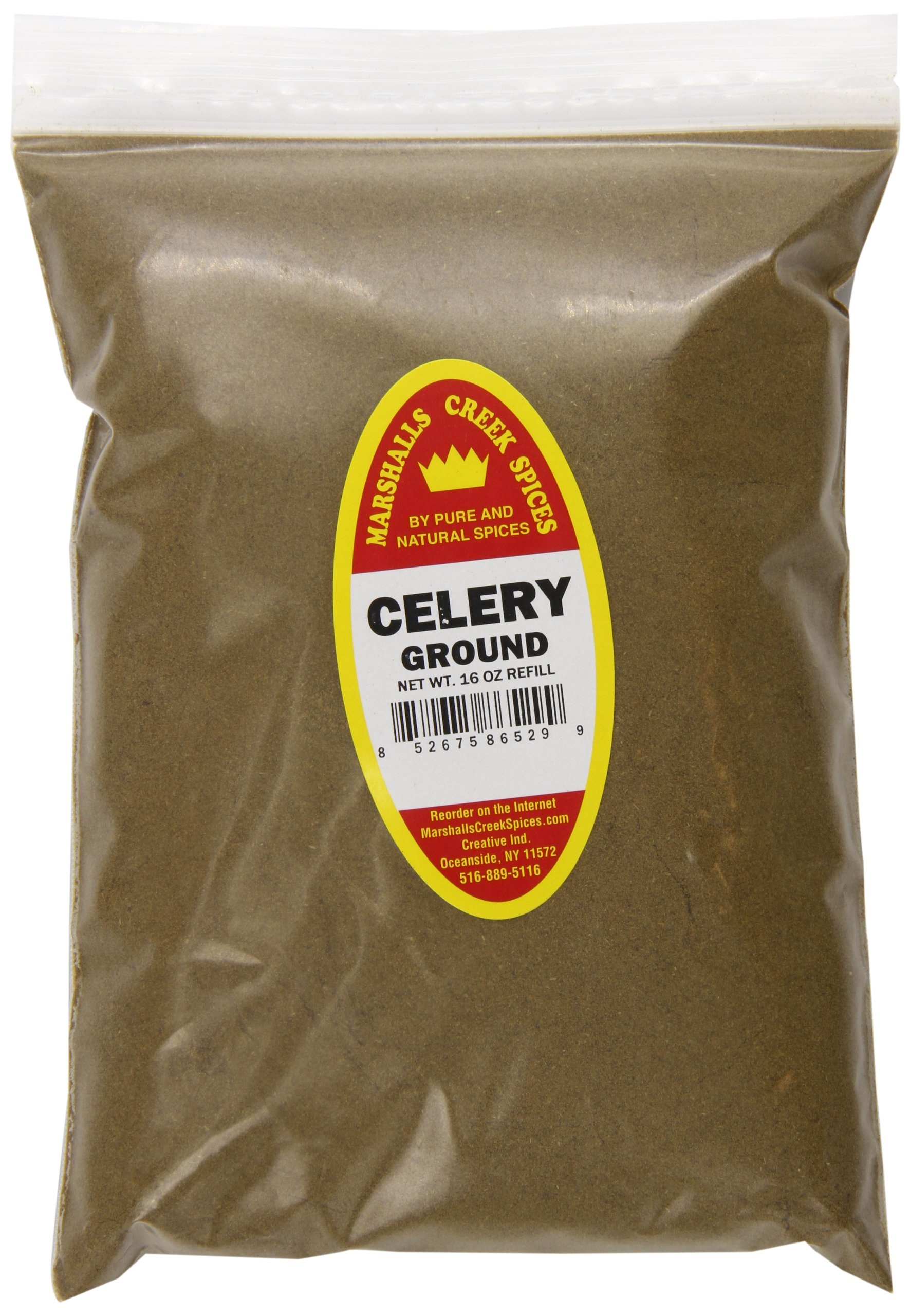 Marshalls Creek Spices Refill Pouch Celery Ground Seasoning, XL, 16 Ounce