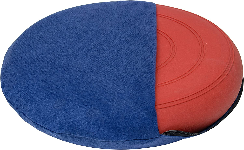 Pumpe und Bezug /Ø 36cm,Suedine Ballsitzkissen Sitzkissen Kissen Rot inkl schwarz