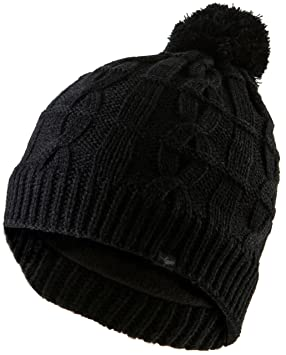 Sealskinz Cable Knit Bobble Beanie Hat - Black 8d81b9e41d2