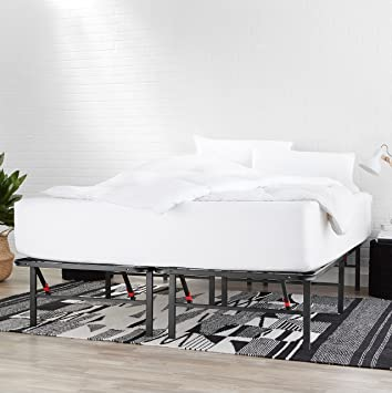 Amazon Com Amazonbasics Foldable Metal Platform Bed Frame With