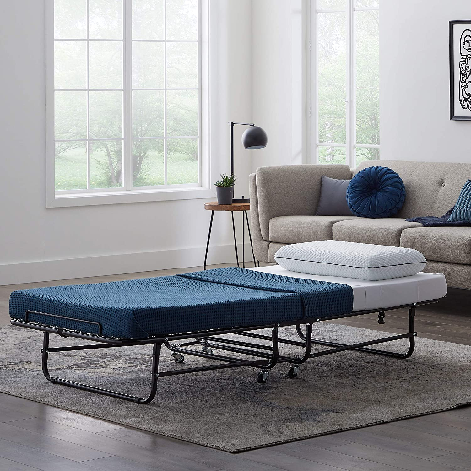 Amazon.com: LUCID Rollaway Folding Guest Bed with 4 Inch ...
