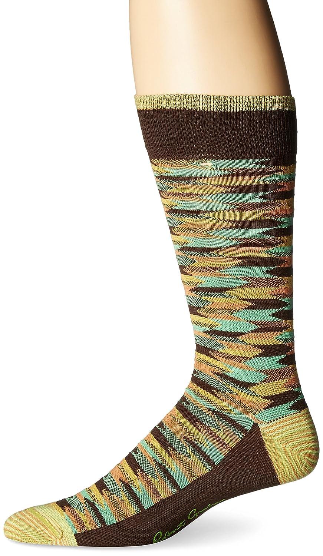 6-12 Robert Graham Mens Socks R62377//003 Robert Graham Amalner Printed Socks Brown Sock Size:10-13//Shoe Size