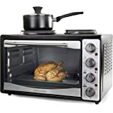 Andrew James Mini Oven and Grill With Double Hot Plates 33 Litre