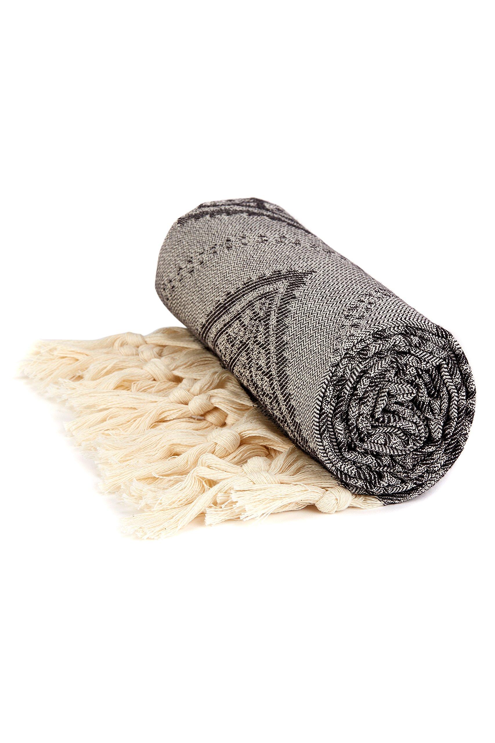 Lushrobe Peshtemal Beach Towel - rolled up