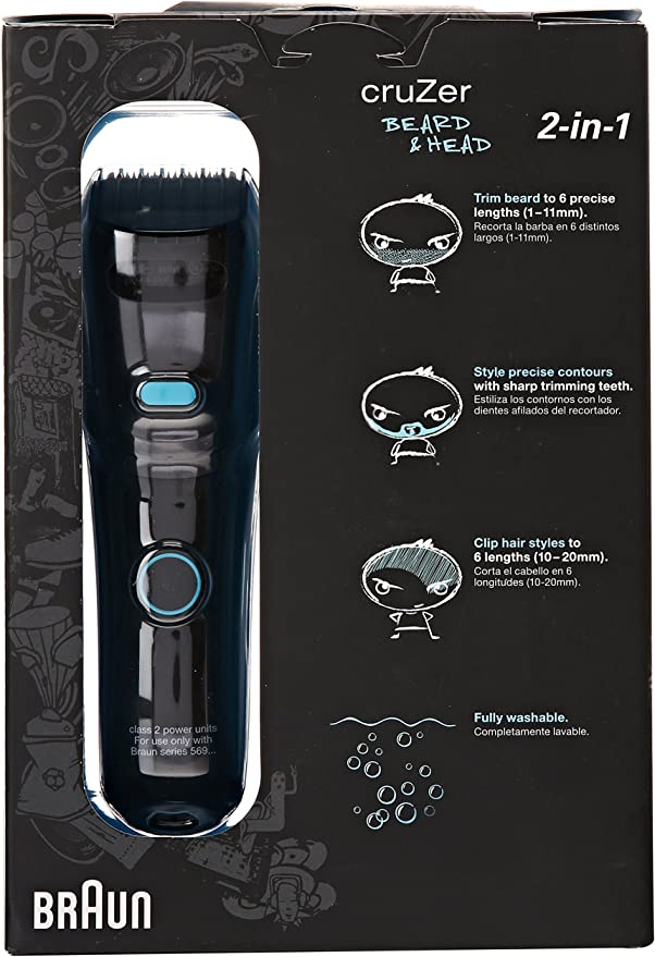 Braun Cruzer 5 Beard Trimmer, Beard and Head: Amazon.es: Salud y cuidado personal