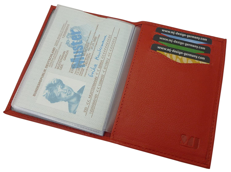 Kalbsleder Ausweis- und Kreditkartenetui MJ-Design-Germany (Braun)