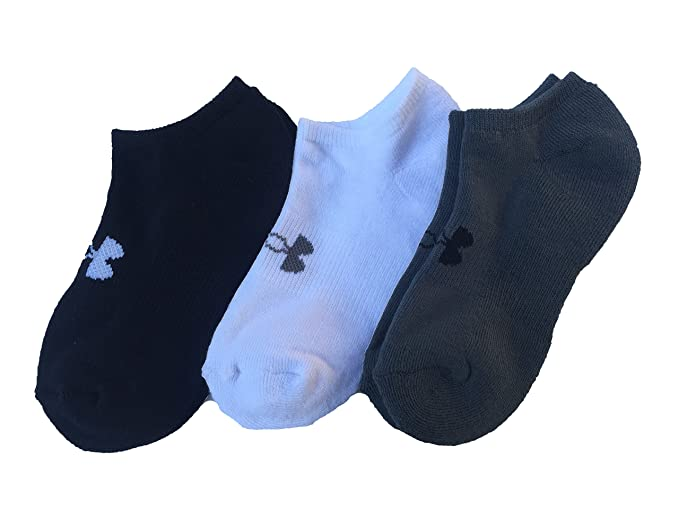 199fa6017 Amazon.com: Under Armour Boy`s UA Next 2.0 Solo Training Socks, 3 ...