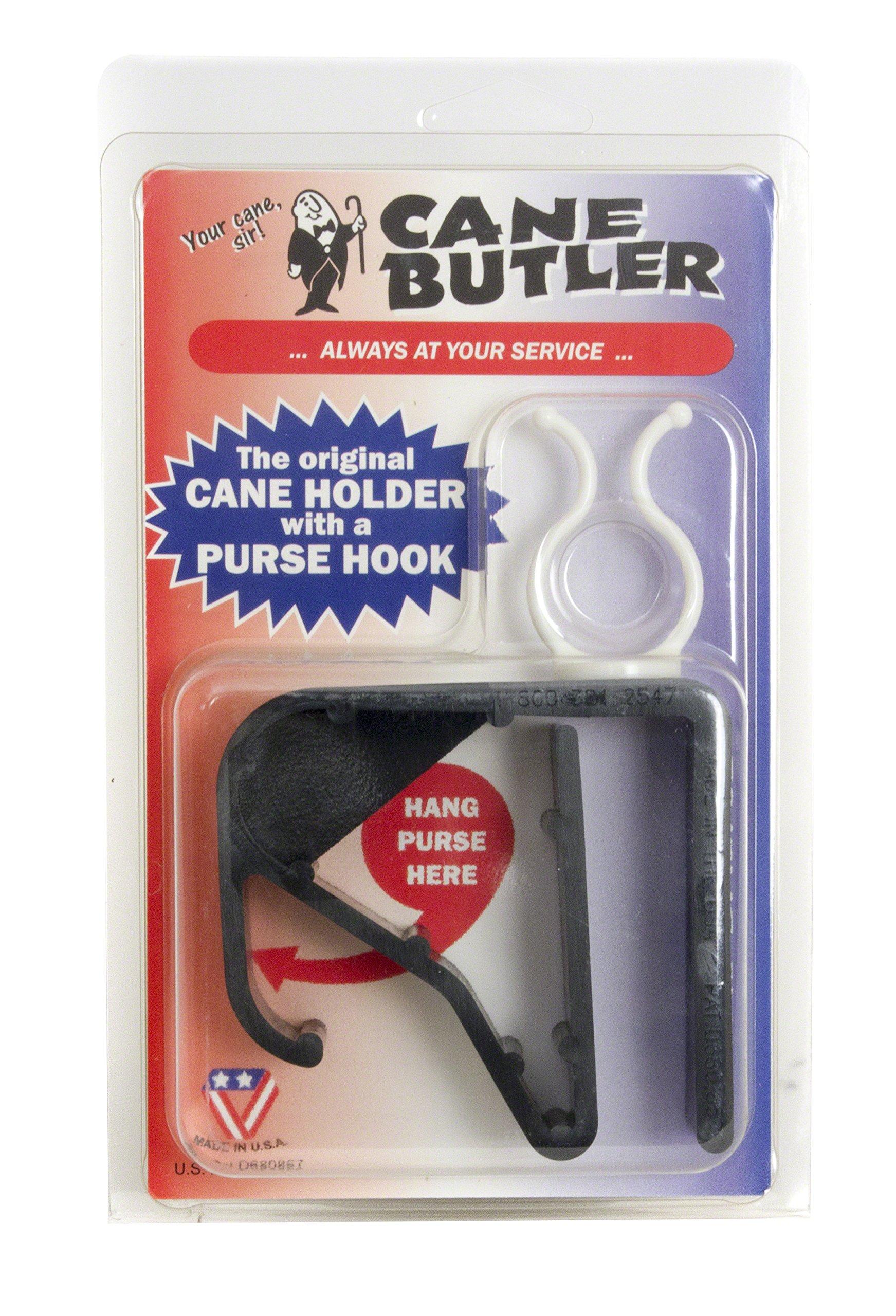 Cane Butler Original Cane Holder with Purse Hook