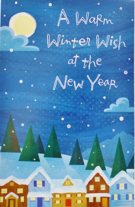 a warm winter wish at the new year happy new years greeting card quot