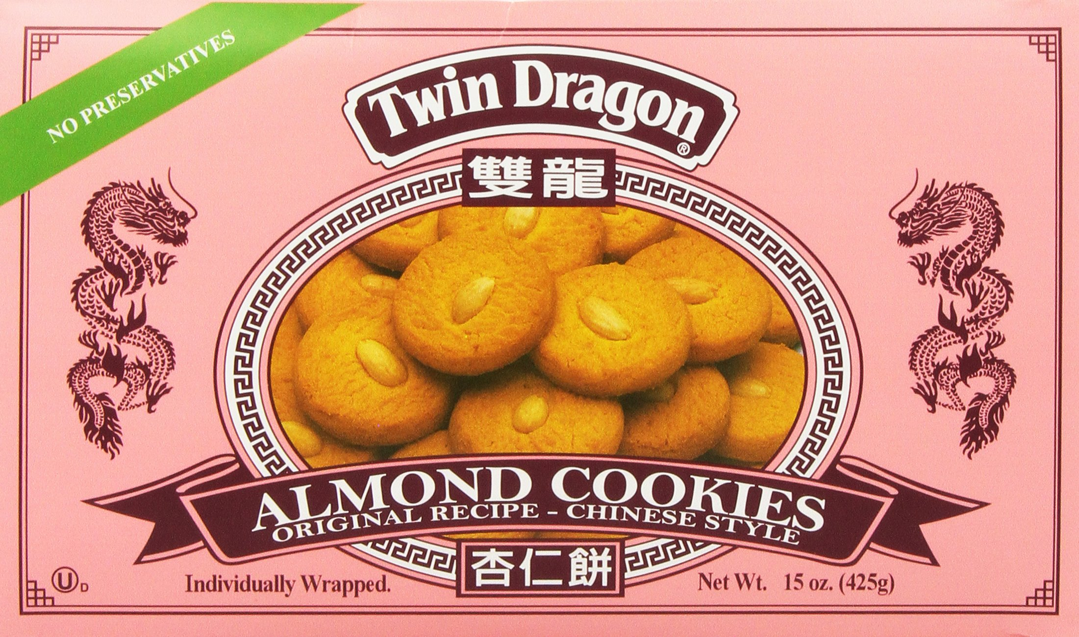Twin Dragon Almond Cookies 15 Oz. by Twin Dragon