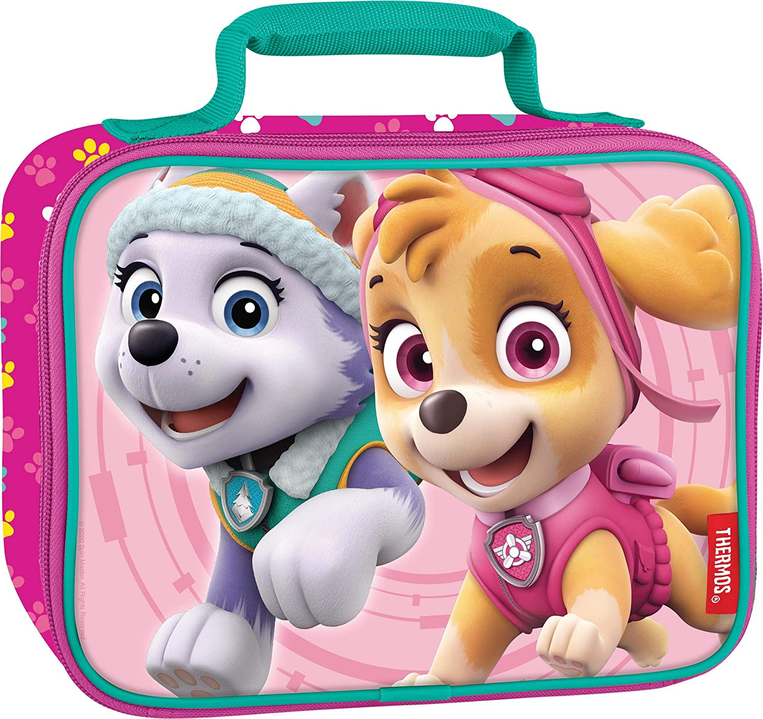Thermos, Paw Patrol Girl Soft Lunch Kit, 9.5 x 3.75 x 7.5inch