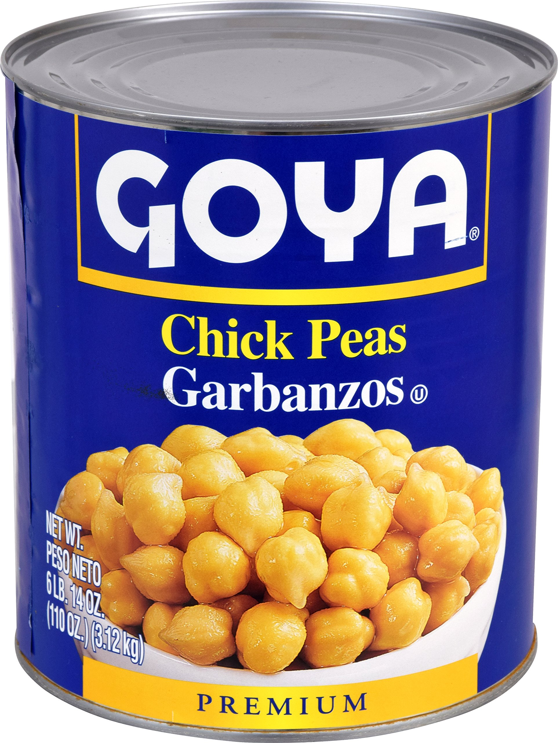 Goya Foods Chick Peas, 110 Ounce (Pack of 6) by Goya