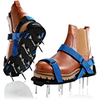 Briliantwerk® Nagelschoenen met klittenbandsluiting – te gebruiken als gazonbeluchter of dekschoenen – gazonventilator…