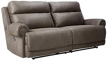 Ashley 3840147 Austere 2   Seat Reclining Sofa, Gray Part 58