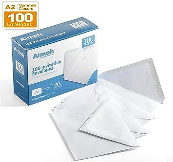 9139WSEPuZL._SX355_ amazon com 100 white a2 invitation envelopes 4 3 8 x 5 3 4,A2 Invitation Envelopes