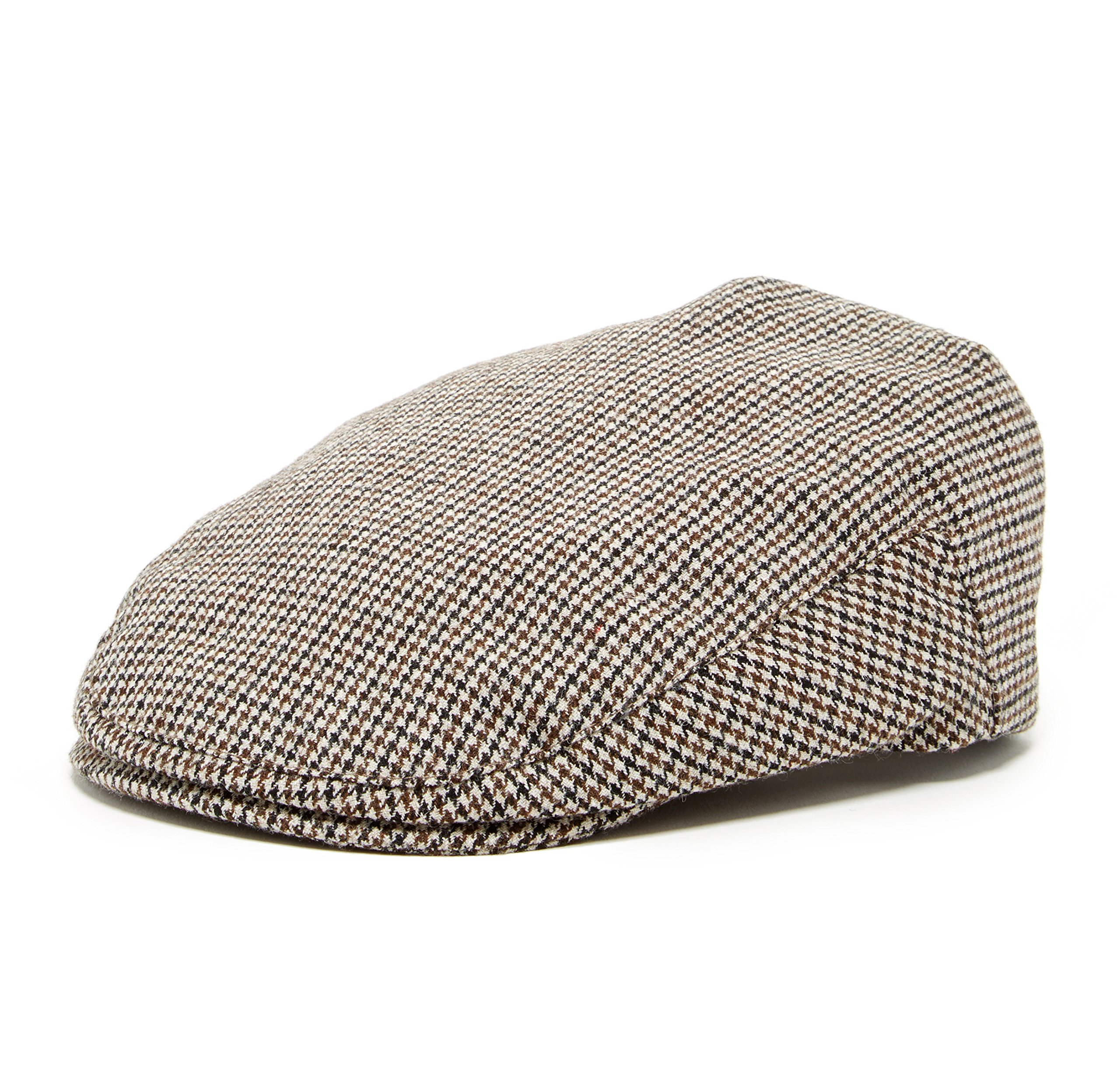 Born to Love Knuckleheads Driver Flat Caps (XXS 46 cm (6-12 Months), Houndstooth)