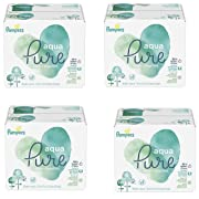 Pampers Aqua Pure 6X Pop-Top Sensitive Water Baby Wipes, 1344 Count