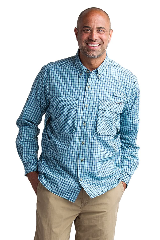 ExOfficio Herren Air Strip Micro Plaid Long Sleeve Shirt