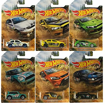 Hot Wheels 2020 Rally Car Set of 6: Toys & Games