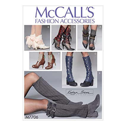 Amazon.com: McCall\'s Pattern M7706 Misses\' Spats by Kathryn Brenne ...