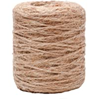 Jute koord natuurlijk koord tuin 2 mm - jute touw touw jute touw knutselsnoer voor huishouden handwerk DIY decoratie…