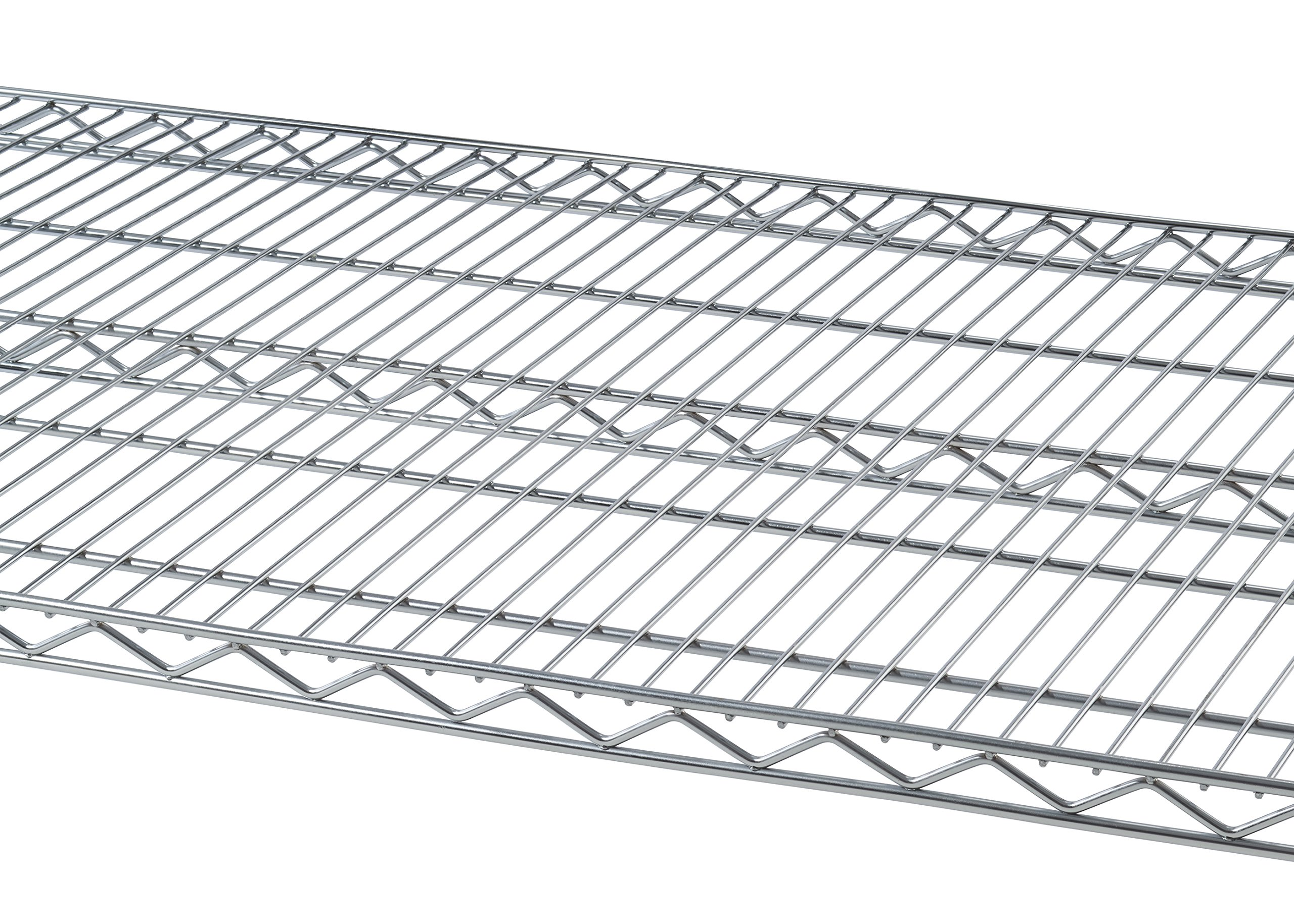 TRINITY 5-Tier NSF Heavy Duty X-Large Wire Shelving Rack with Wheels, 60 by 24 by 72-Inch, Chrome by Trinity (Image #5)