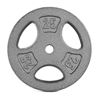 CAP Barbell Standard 1-Inch Grip Weight Plates, Single, Gray