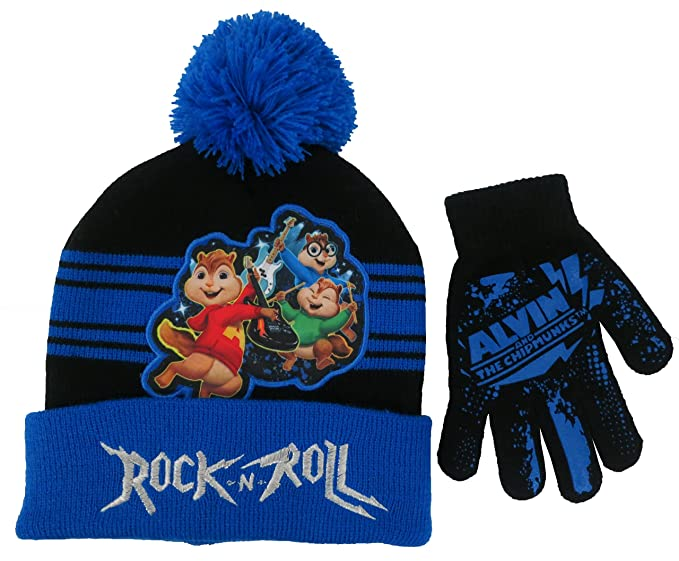 amazon com alvin and the chipmunks boys blue hat and glove set