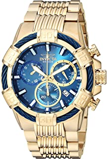 Invicta Mens Bolt Quartz Watch with Stainless-Steel Strap, Gold, 30 (Model