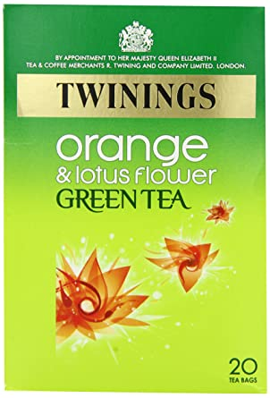Twinings Green Tea With Orange And Lotus Flower 20 Teabags Pack Of