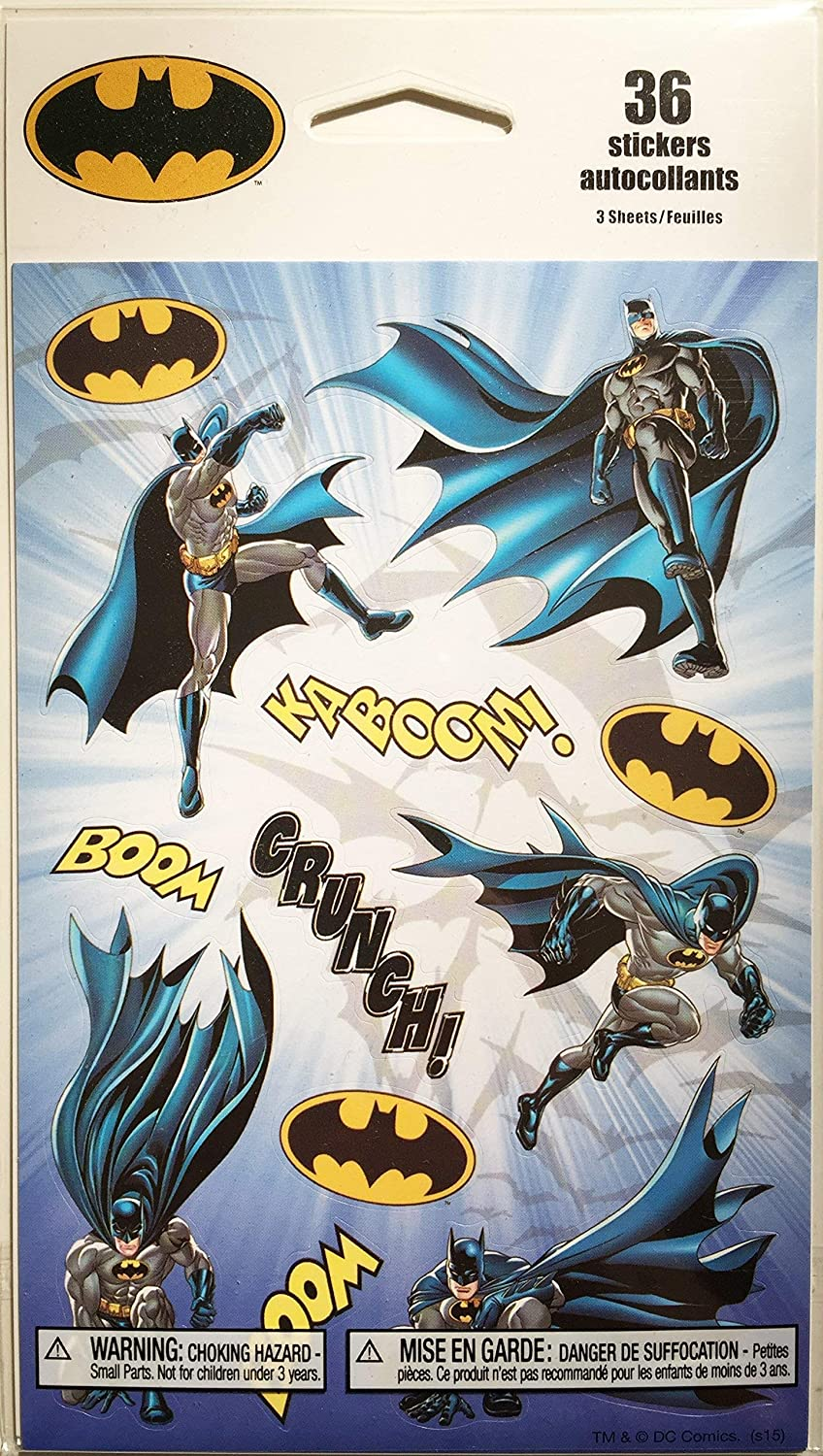 BATMAN STICKER PACK, 36 STICKERS INCLUDED