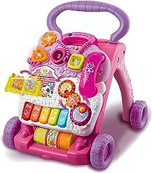 VTech Baby - Correpasillos andandín 2 en 1, color rosa, versión española
