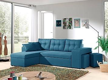 tout neuf ed3a9 5d8fc Bestmobilier - California - Canapé d'angle réversible et ...