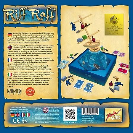 Zoch 601105012 - Juego de Mesa Riff Raff (en alemán): Amazon.es: Juguetes y juegos