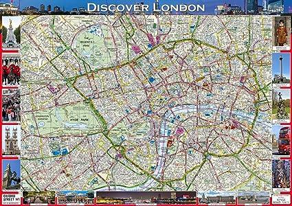Londra Cartina.Scopri Mappa Di Londra A1 Misura 59 4 X 84 1 Cm Amazon It Cancelleria E Prodotti Per Ufficio