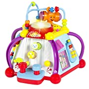 Liberty Imports 15-in-1 Musical Activity Cube Educational Game Play Center Baby Toy with Lights and Sounds