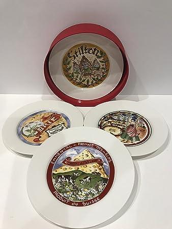 Restoration Hardware Classic Cheese Plates (Vintage 4 Countries) u2013 Set of 4 & Amazon.com | Restoration Hardware Classic Cheese Plates (Vintage 4 ...