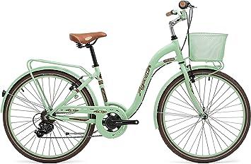 Agece Florida-26 Bicicleta de Paseo, Mujer, Verde/Azul Agua, S ...