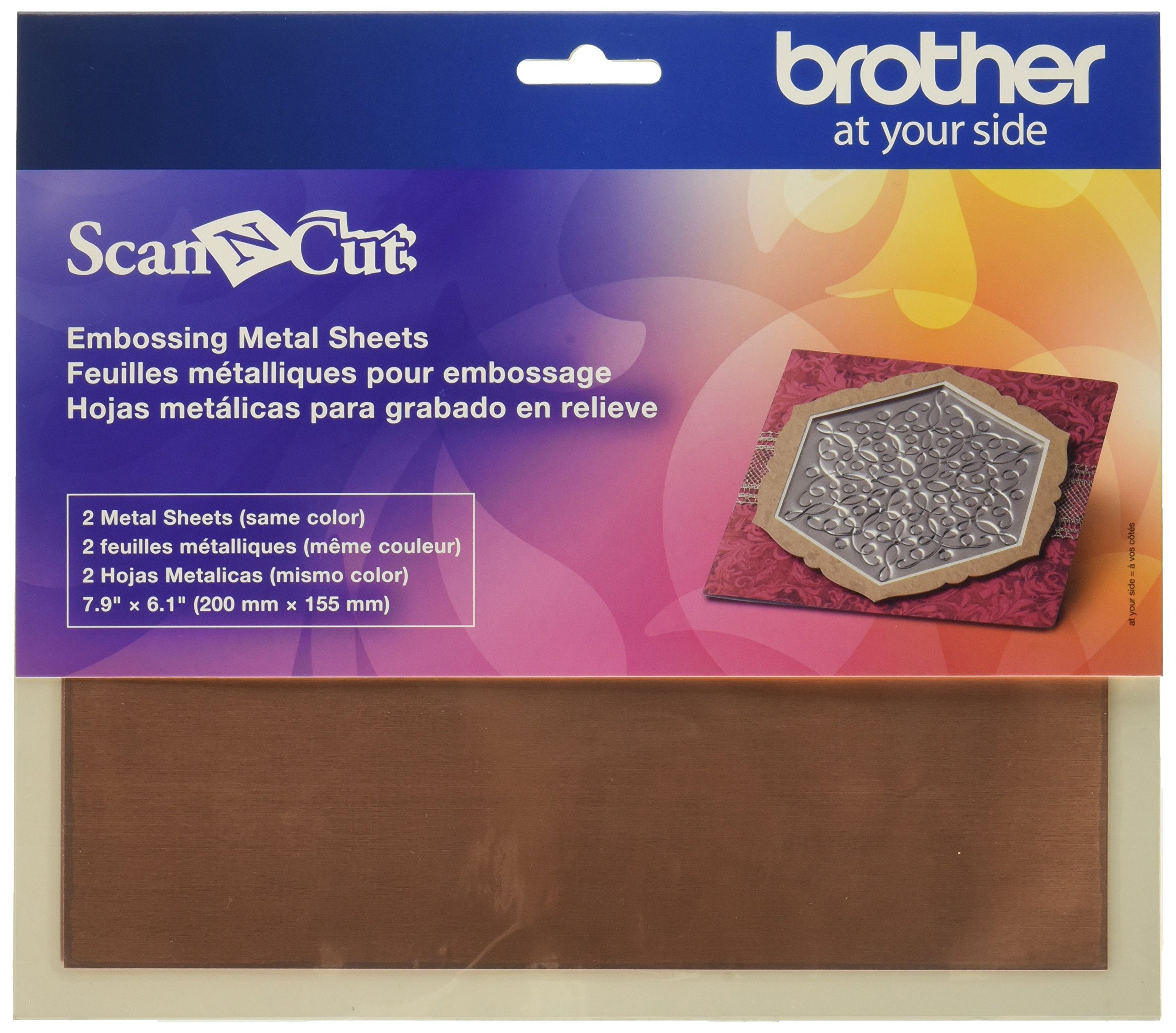 Brother CAEBSBMS1 Embossing Brass Metal Sheets, by Brother