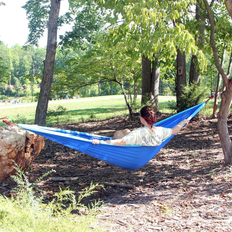 amazon    flying hawk xl double parachute camping hammock   premium quality portable outdoor hiking ultralight camping double hammocks   heavy duty     amazon    flying hawk xl double parachute camping hammock      rh   amazon