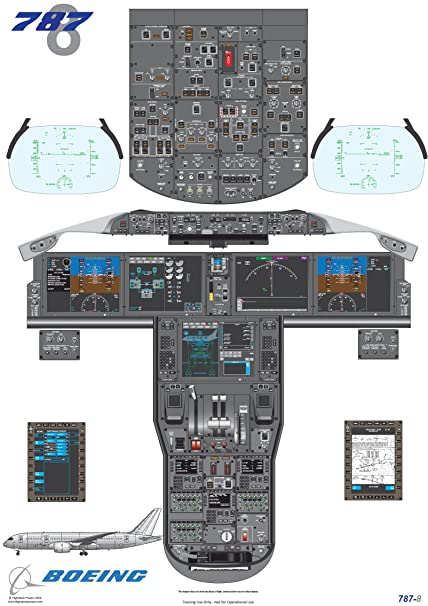 Boeing 787-8 Cockpit Poster - Digital Download: Amazon co uk