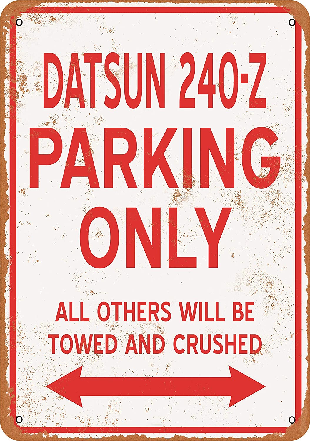 Tamengi 8''x12''Metal Sign Datsun 240Z Parking ONLY Vintage Look Made in USA