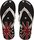 Lotto Men's Black/Red/White Hawaii House Slippers