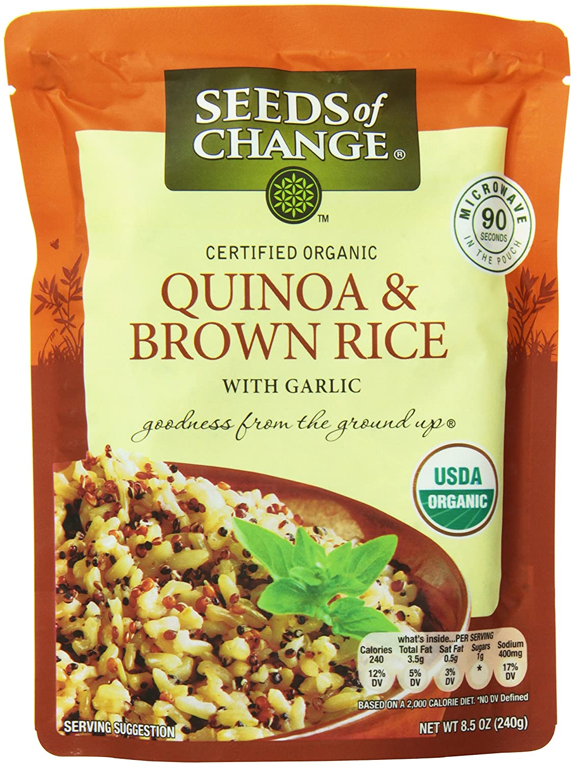 Seeds of Change Organic Quinoa and Brown Rice, 8.5 Ounce ( 6 count )