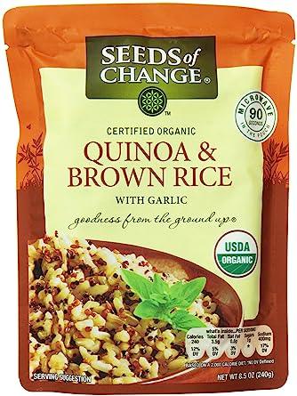 Semillas de quinoa y arroz marrón orgánicos ...