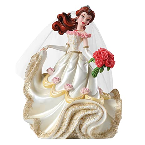 Disney Showcase Beauty And The Beast Belle Wedding Stone Resin Princess Figurine