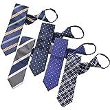 BUSINESSMAN SUPPORT(ビジネスマンサポート) ワンタッチネクタイ ジップ式簡単ネクタイ 5本タイプセット