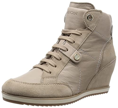 f0e9e94f6b Geox Women's D Illusion 25 Fashion Sneaker, Light Taupe, 37 EU/7 M ...