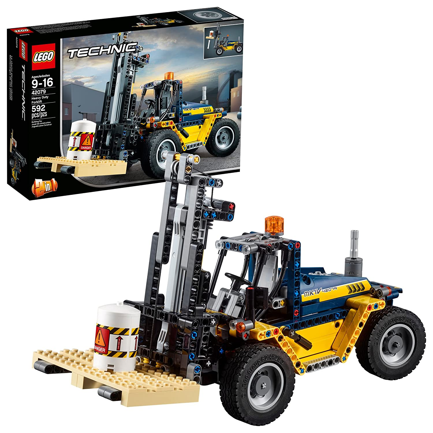 LEGO Technic Heavy Duty Forklift 42079 Building Kit (592 Piece) 6213710